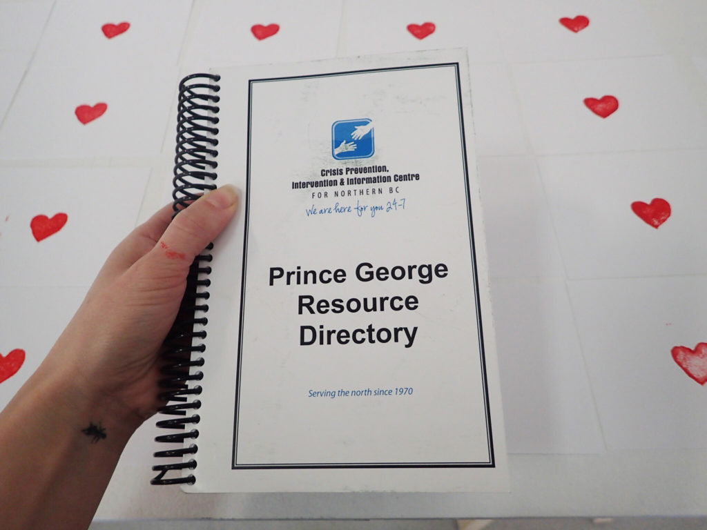 Image of the Prince George Resource Directory. Photo by Alana Bartol.
